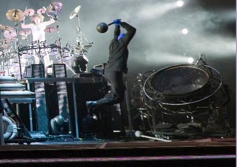 Me flying through the air in Seoul Korea to hit that BIG drum.