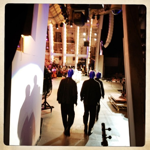 Walking on to the Hollywood Bowl stage. We somehow sold out two nights there. Love that venue.