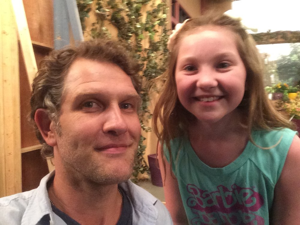 Me and my super talented TV daugter Ella Anderson. This girl is gonna take over Hollywood. You just watch...