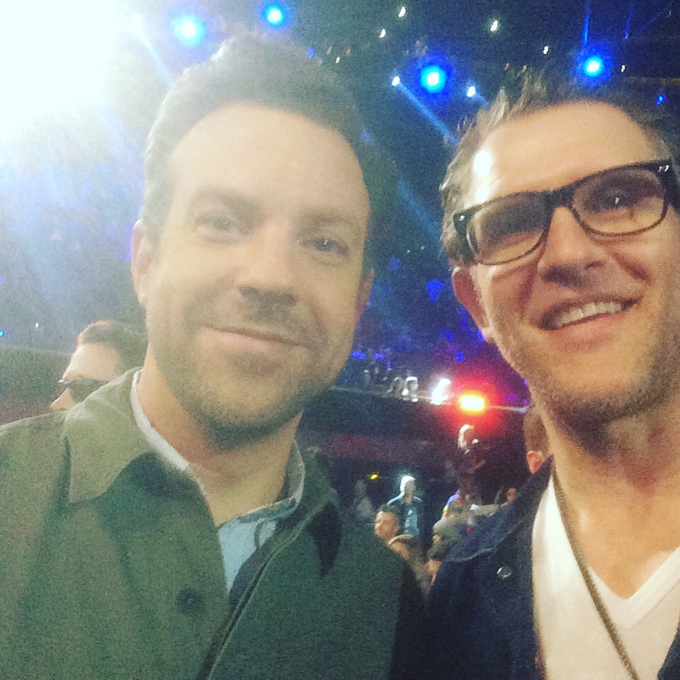 With my old pal Jason Sudiekis at the Kids Choice awards 2016. He was doing Second City while I was doing Blue Man Group in Vegas. THAT was a fun time.