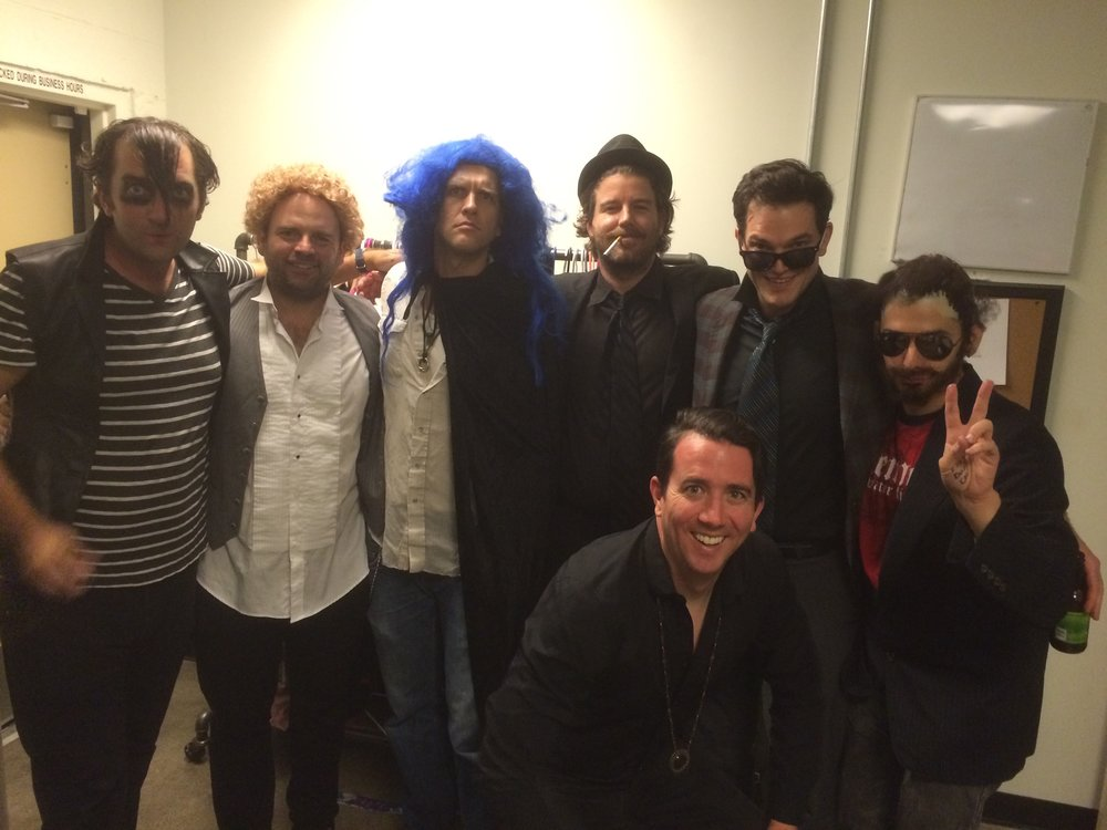 Backstage at Upright Citizens Brigade with these crazy dudes...