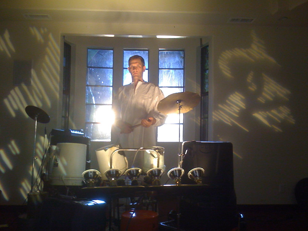 DId a ashort film about being a performance artist drummer guy. I made a bucket kit and out it through electronic guitar pedals.