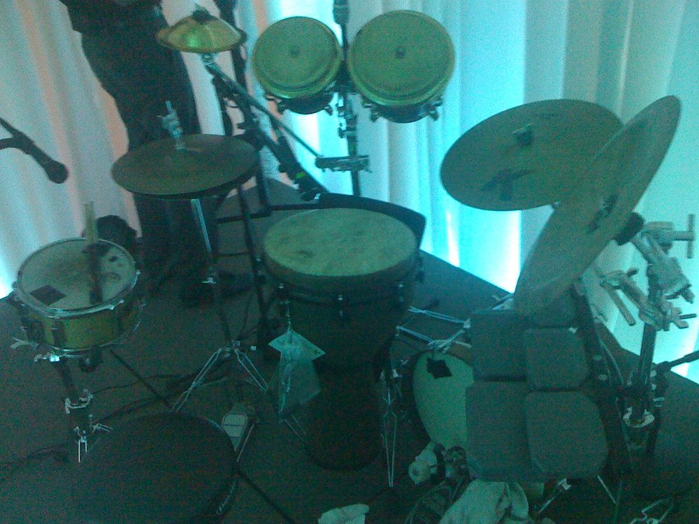 My hand percussion drumset!! Love mixing it up like this!