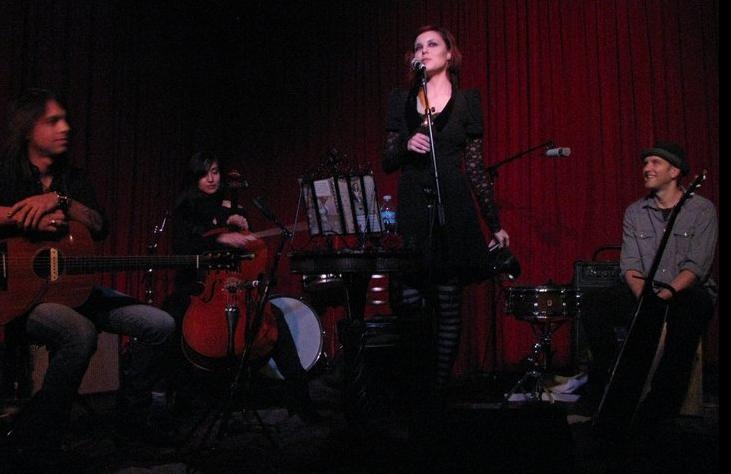 At the Hotel Cafe in Hollywood with Anna Nalick. Probaby my favorite venue to play at in LA.