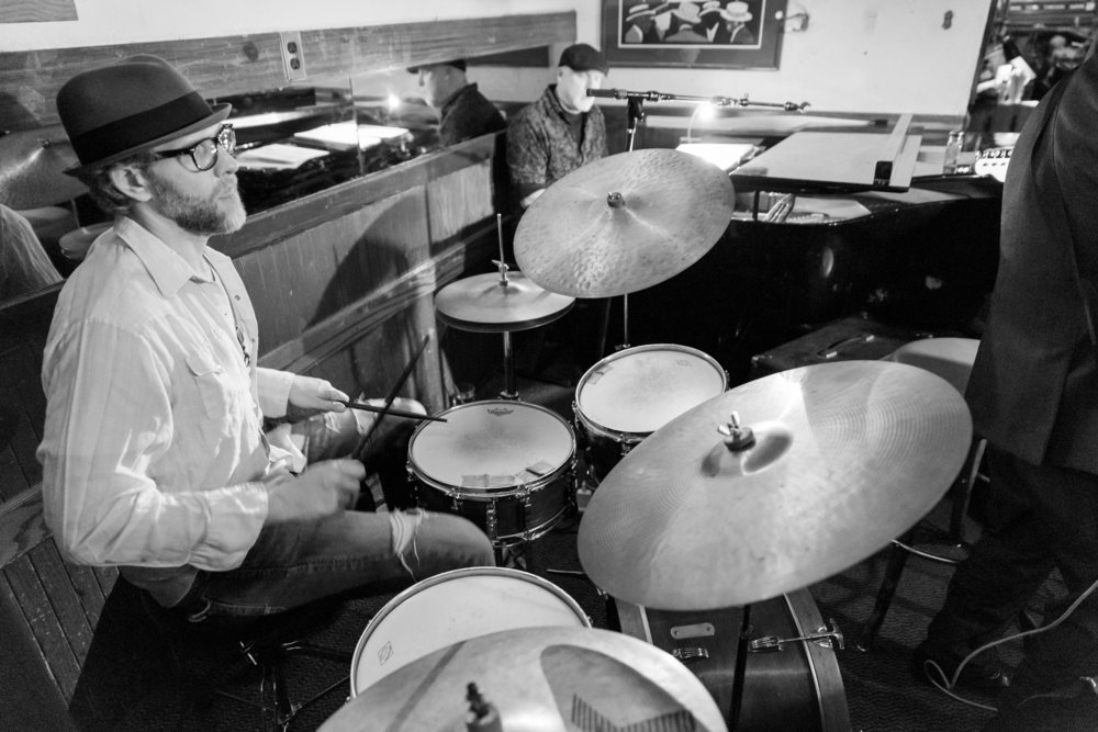 Playing at good ole Jax in Glendale with Mike Gurly and the Nightcaps. We played jazz there every other friday night for 8 years. RIP Jax...