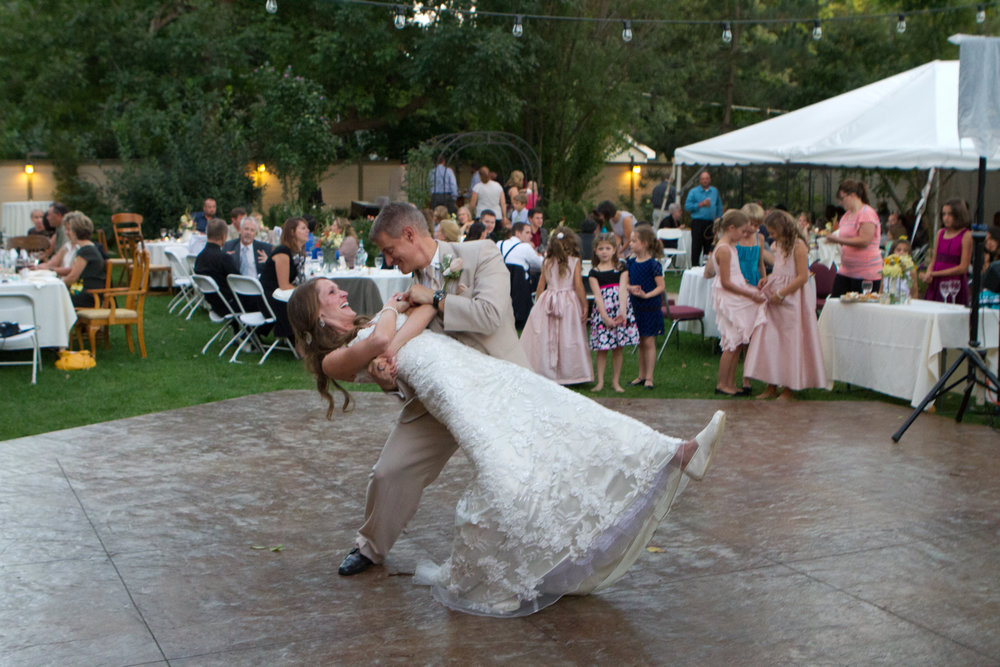 You can dip your new bride on the dance floor.....just don't drop here!
