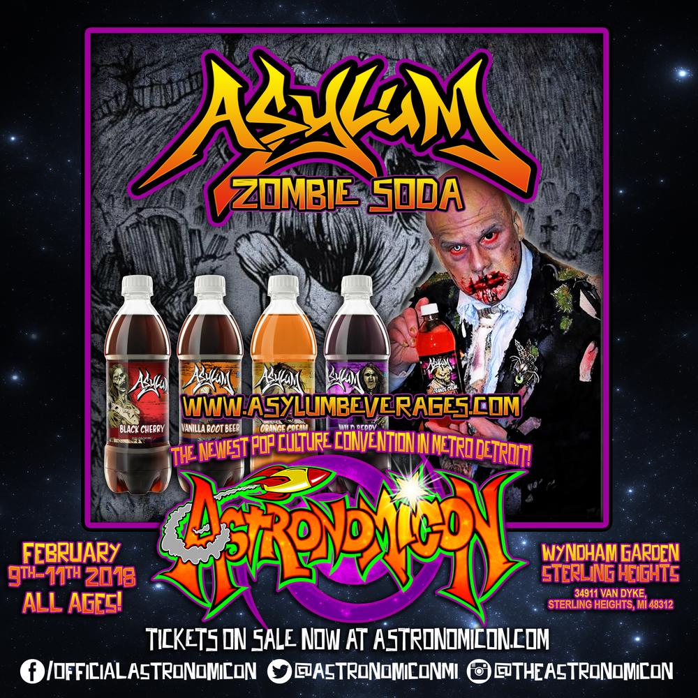 Asylum Zombie Soda -  http://www.asylumbeverages.com