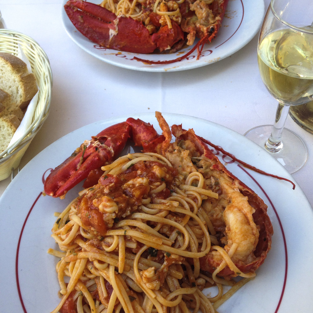 Lunch at Gambero Rosso in vernazza  -