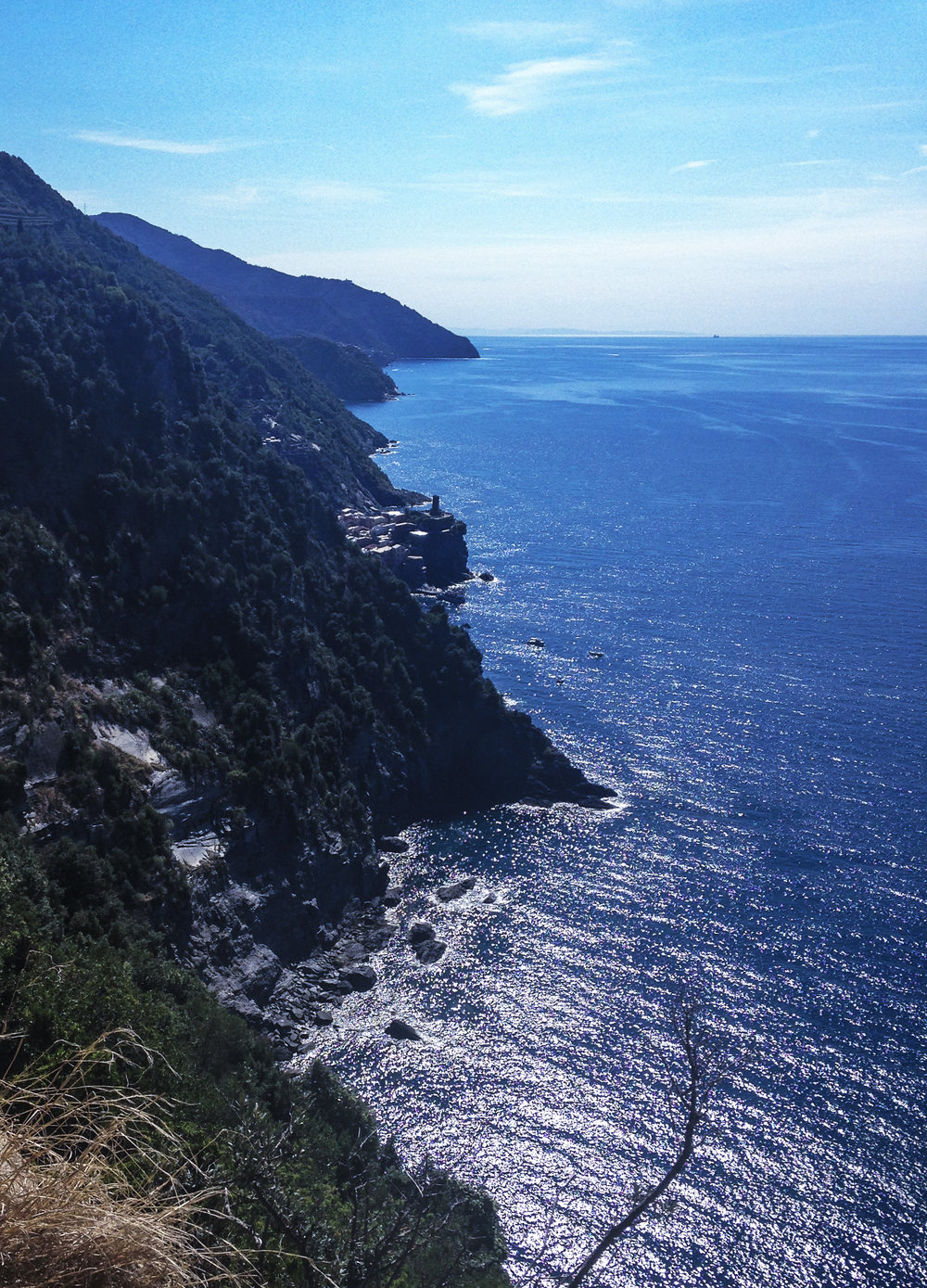 Stunning Views of the cinque terre coastline -