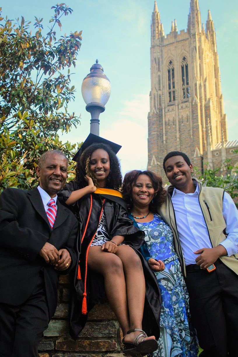All smiles at graduation! (Duke University, 2016)