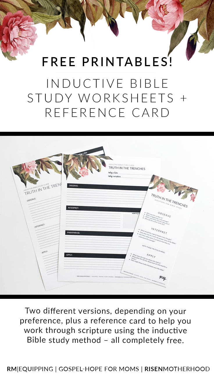 Free Printable Inductive Bible Study Worksheets Companion Card – Free Printable Bible Study Worksheets