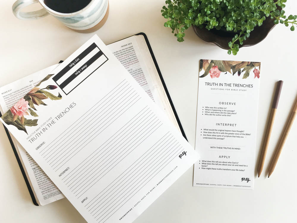 Free Printable: Inductive Bible Study Worksheets & Companion Card