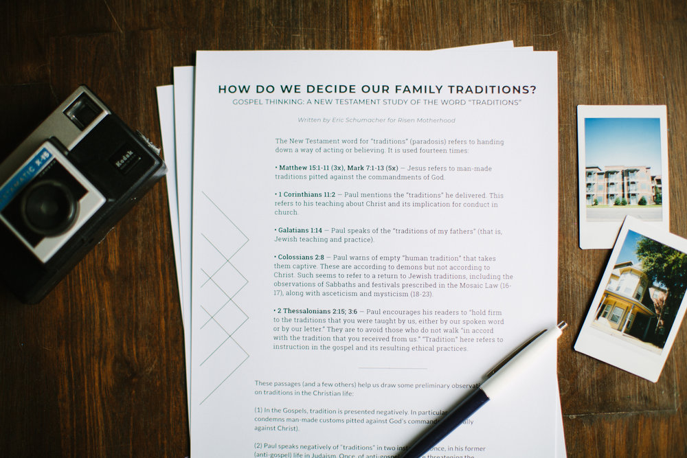 Gospel Thinking: Questions for Family Traditions  -
