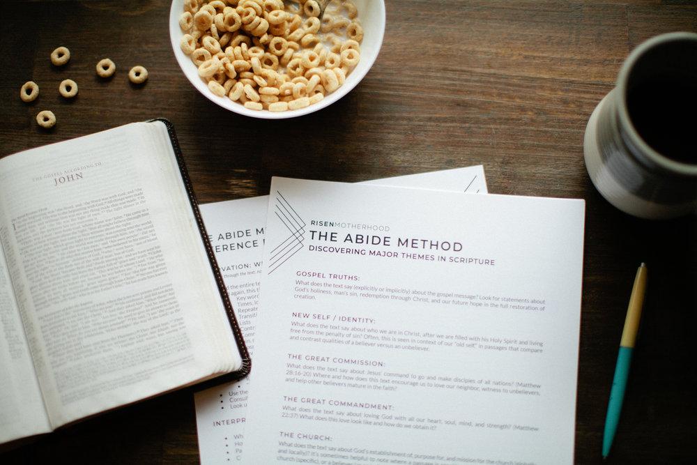THE ABIDE METHOD -