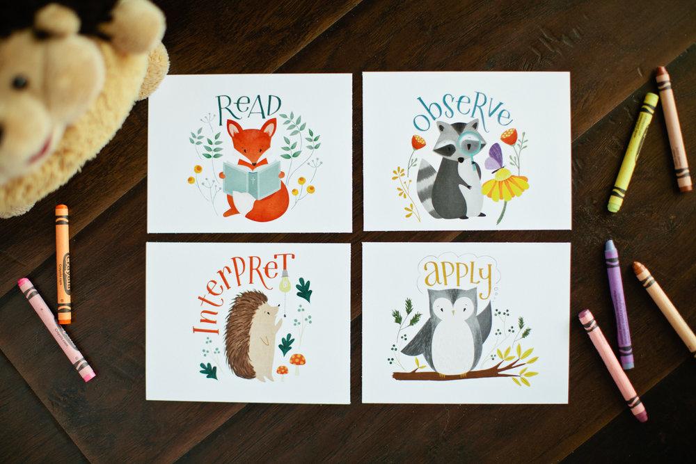 KIDS ABIDE CARDS -