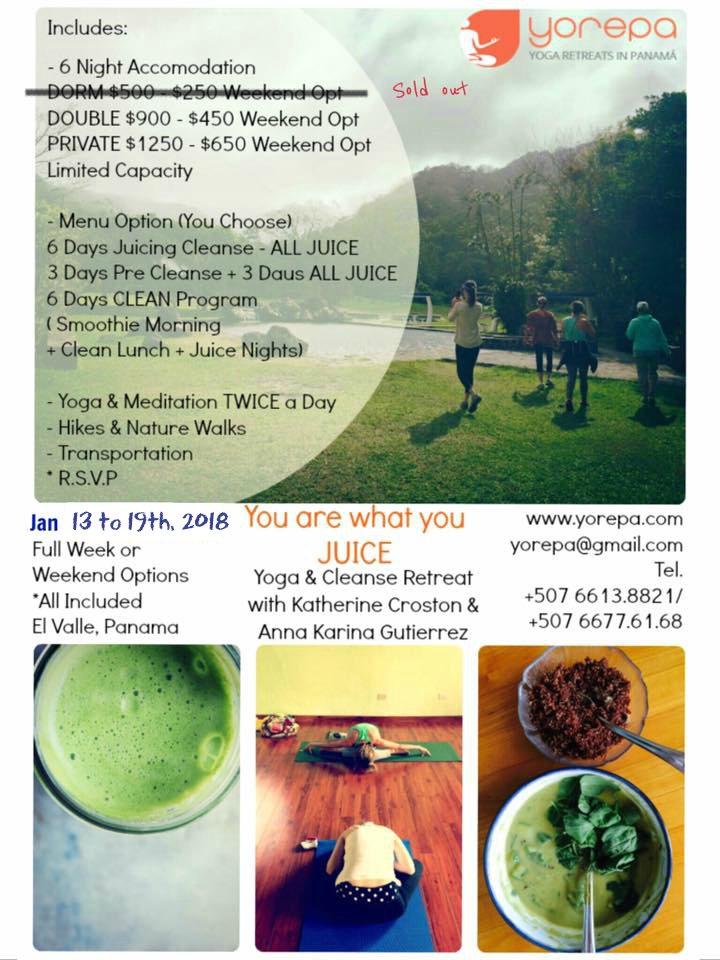 DETOX RETREAT JANUARY 2018