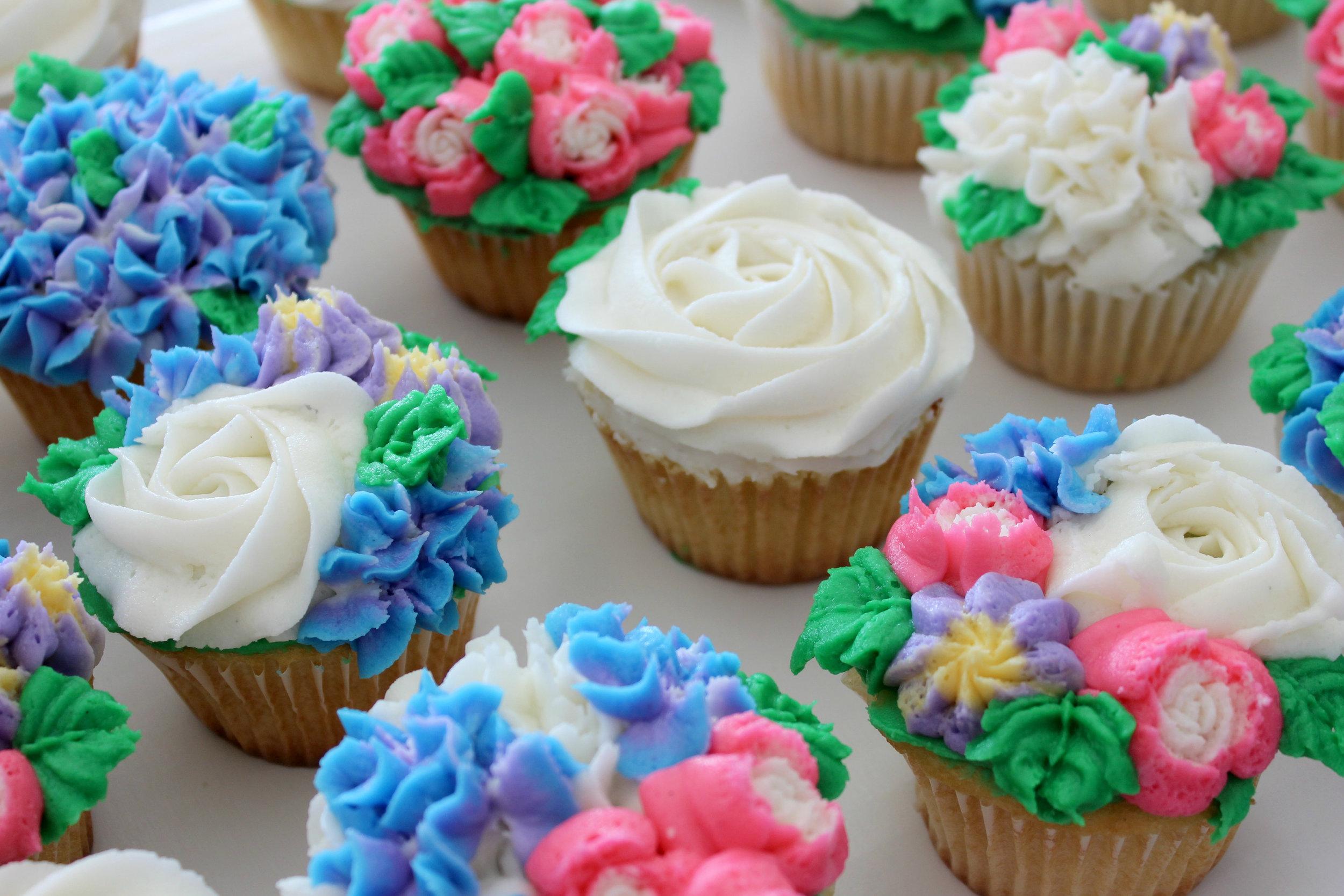 Flower Garden Cupcakes Sandhill Sweets