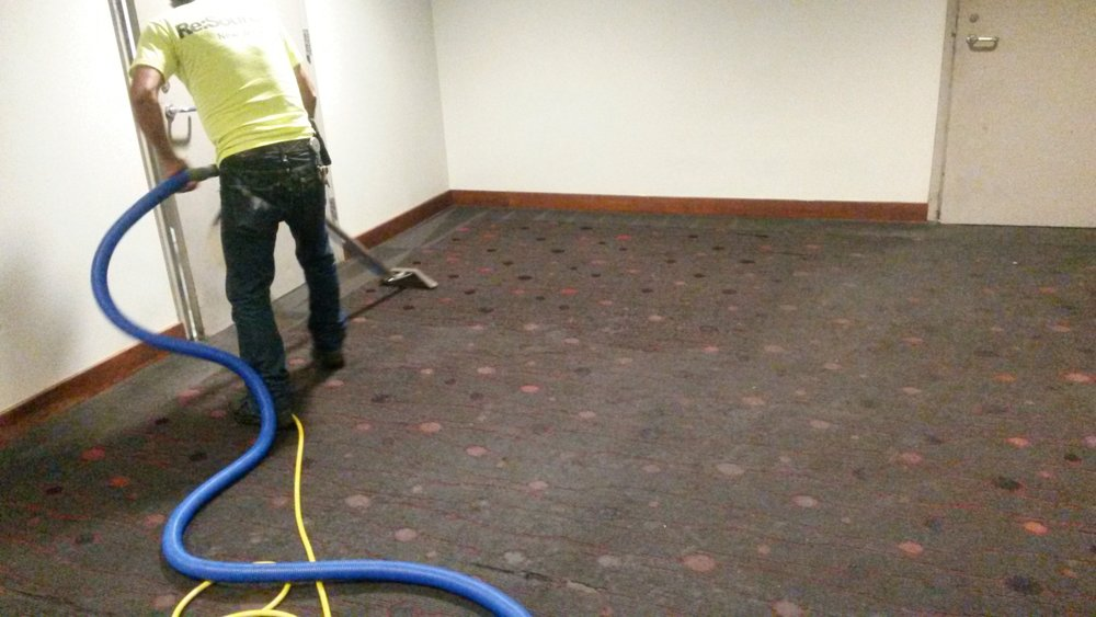 Restoration of improperly maintained carpet