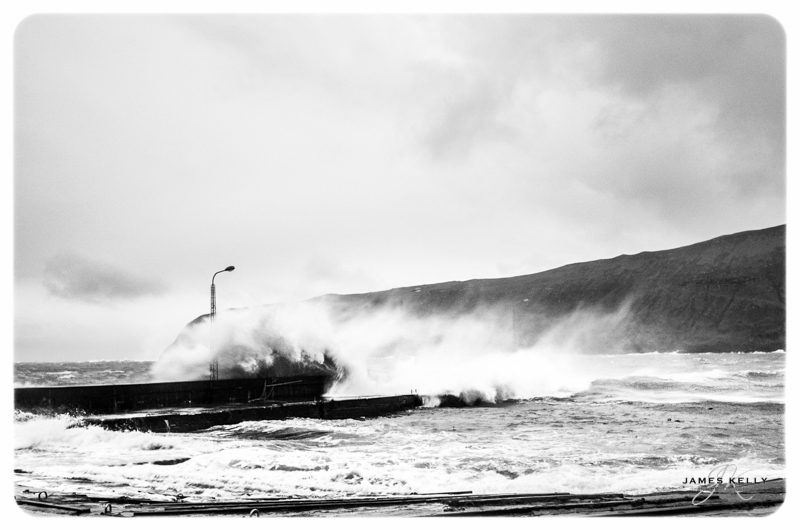 Storm waves from Sandvik Peir. The Faroe's 2012