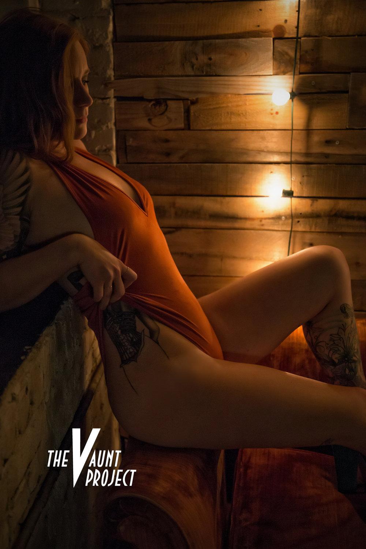 orange vintage bodysuit