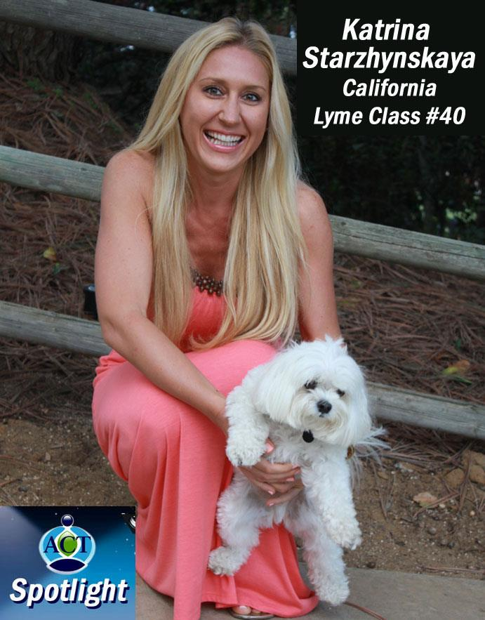 """LYME DISEASE - """"I was so sick with Chronic Lyme Disease and eager to get better; I did not know what treatment to start next. I was really scared to spend a lot of money and time on another treatment just to relapse soon after. One day I was cleaning my apartment and found a sealed envelope over a year old that said, """"Advanced Cell Training: Your body can heal itself."""" I thought it was just another scam and remember ordering that information back when I first got sick, but never opened it. This time, I decided to give it a try. I called them and asked to sign up. I was told the new Lyme class starts in 5 minutes! And if I miss the first class, I would have to wait another 6 weeks for the next one. First, they hesitated to out me in a class without completing my paperwork, but they decided to let me in. It was meant to be!The whole healing process with ACT was very interesting. First off, you have a chart of your """"Top 10"""" worst symptoms, and every single week you rate them on a scale from 0 to 10, with 10 being the worst. Sure enough, I start noticing a difference in my symptoms – they all went down. And I know it was not a placebo effect, because we had over 40 people in my class, and about 90% of them reported improvements every weekly session! I had no idea how this process worked, but all I knew was it was working for me! 9 months later I was 85% recovered – 12 months later I became Lyme-FREE!"""