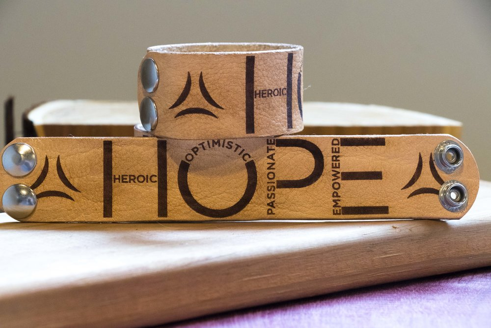 HOPE Storyband, Leather. Click image to buy.