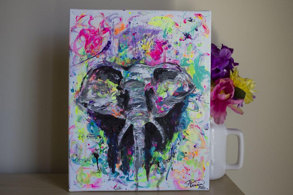 Elephant 11in x 14in