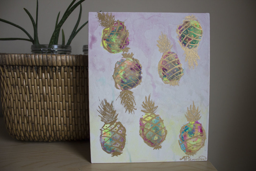 Pineapple Party 8in x 10in