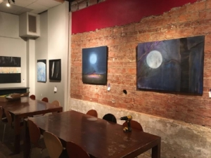 Moon Scape Paintings at The Red Tree Show