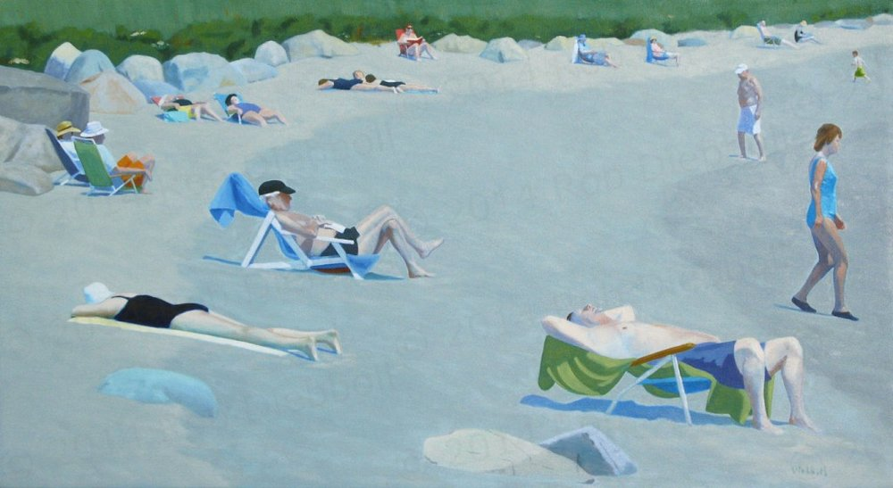Pebble Beach Dream, 22 x 40, oil on linen