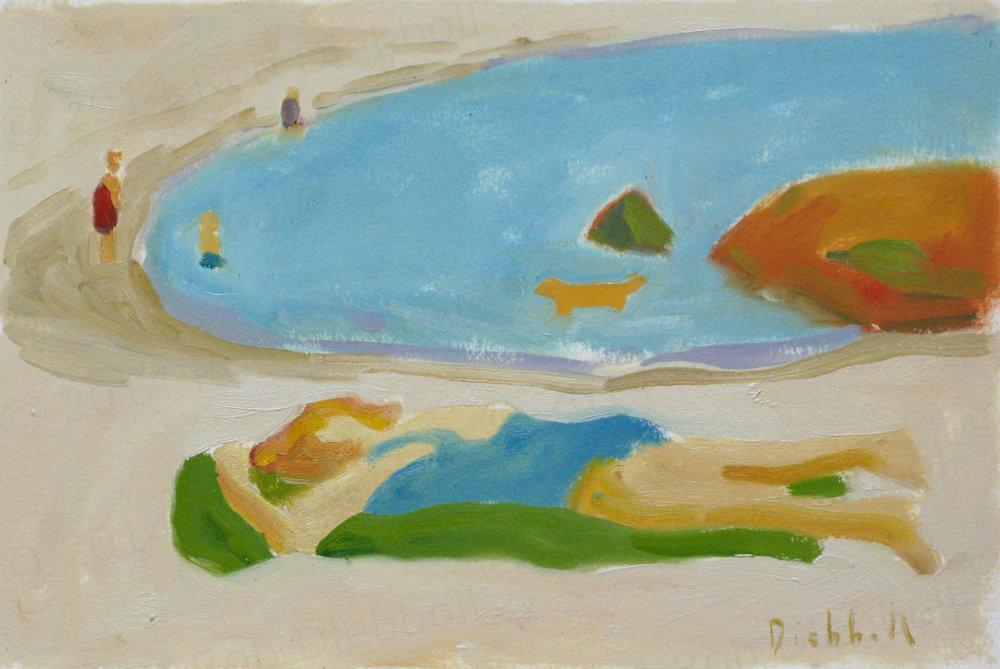 Carole, 7.5 x 11, oil on paper