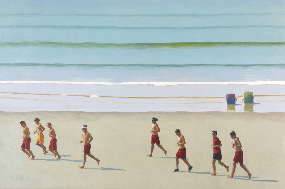 Lifeguards, 24 x 36, oil on linen