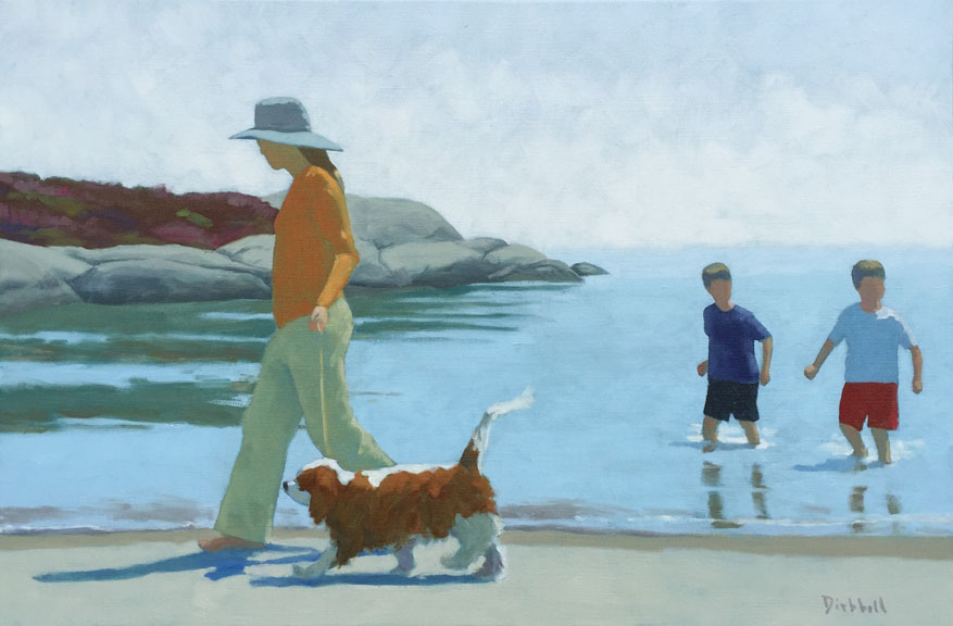 Walking Long Beach, 20 x 30, oil on linen