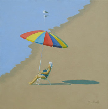 august umbrella (2013) – oil on linen – 16 x 16