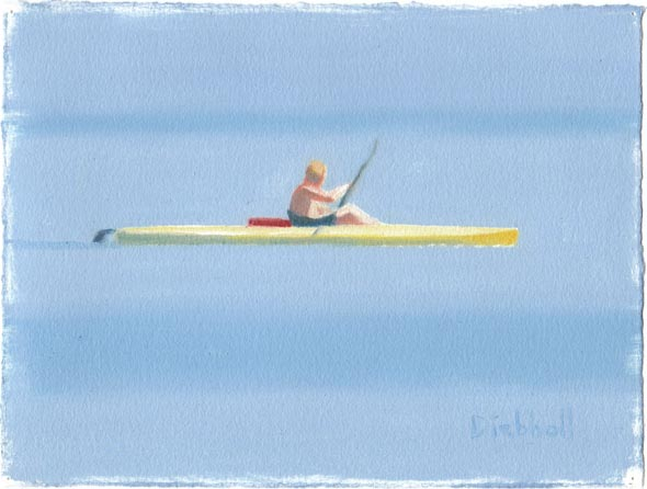Kayak, 8 x 10, oil on paper