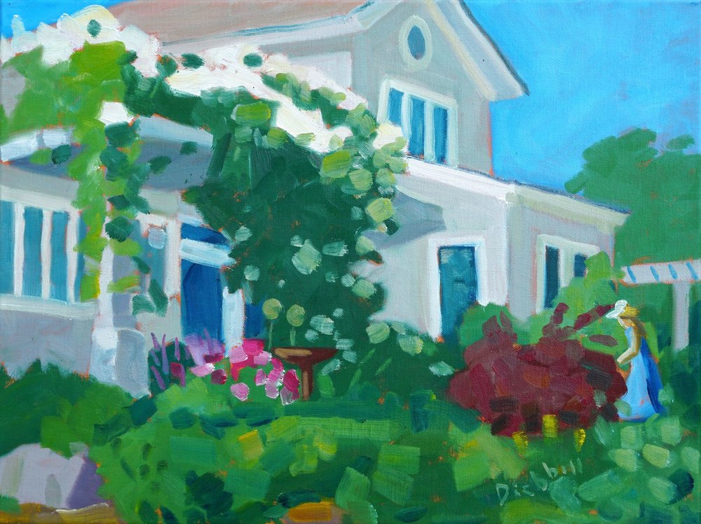 Garden House, 12 x 16, oil on linen