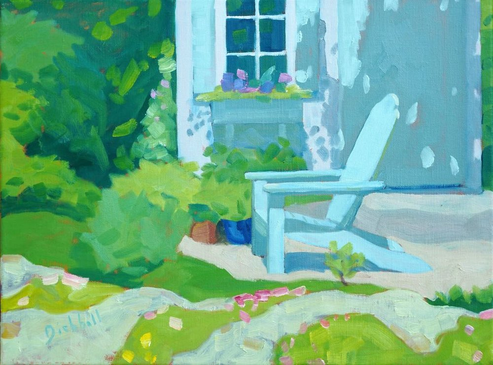 Garden Chair, 12 x 16, oil on linen