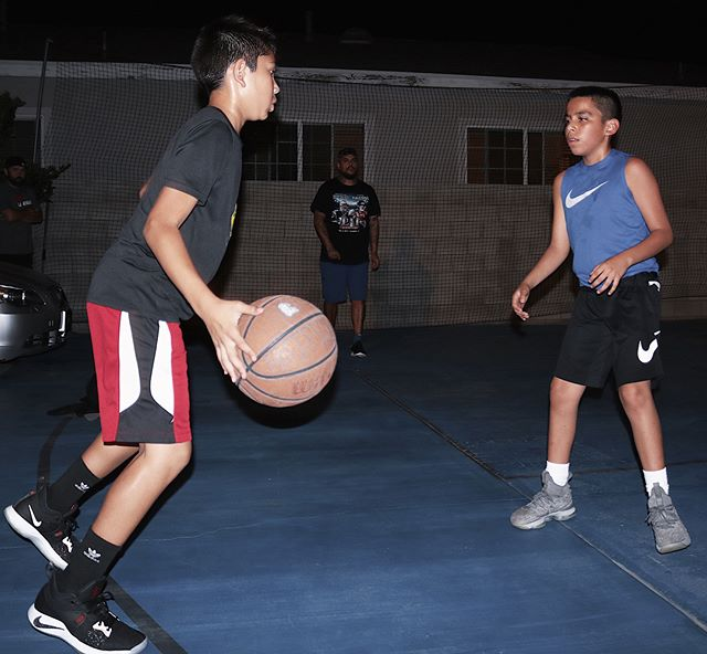 Wednesdays starring- @jadenbuckets22 & @giosgotgame 👊🏼🏀 Shooting the basketball is my area of expertise! -  It's an art form! There's nothing better than hearing that net ..get whipped ! Splash! The back of the rim makes ! The shooter rolls you get.. those lucky bounces (because you did everything right )  Having the skill and confidence to bury shots in players faces ! That's what I'm talking about ! -  Jaden and Gio  Closed the night out on fire 🔥  Swish after swish !  Game shots ! Combo moves ..all leading to the same shot from different angles . Increasing balance! Form ! Follow through! But most importantly being consistent!! Understanding!  All the moving parts ..all the variables .  Excellent job tonight gentlemen! 💯💯💯🙏🏽 -  Ps ..I hope your teammates are working just as hard ??🤔 ...- ... #hitsvillebasketball #hitsvillehoops #hitsvilleallday #basketball #hoops #bball #ballislife #work #skills #training #confidence #consistency #effort #efficiency #coach #nike #determined #youth #sgv #rosemead #la #montebello #thankful #athletes #blessed #🏀