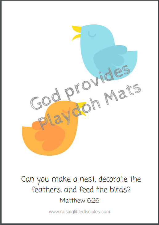 God provides - Playdoh Mats