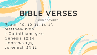Bible Verses - God Provides