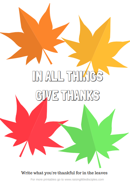 photograph regarding Thankful Leaves Printable titled 4 Thankfulness Printable Web pages Expanding Small Disciples