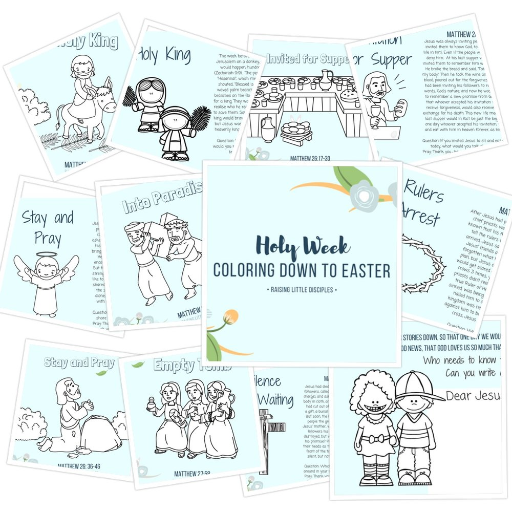 Easter Countdown Colouring Postcards