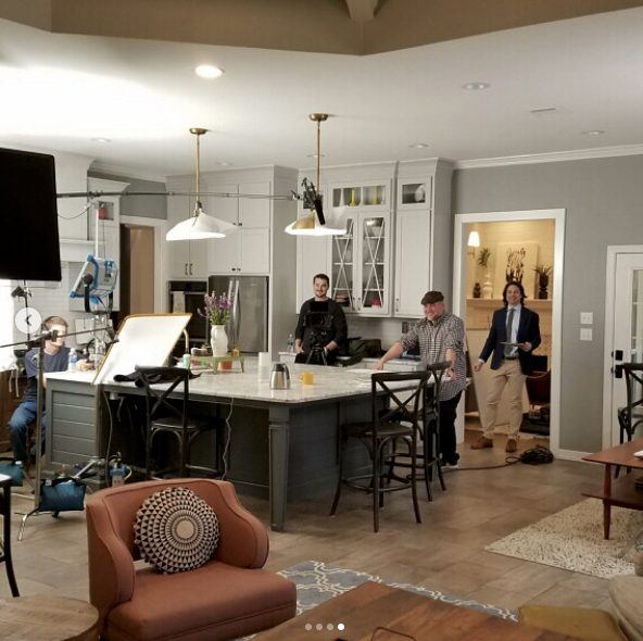 Robert and crew on a recent commercial shoot in Waco, TX.