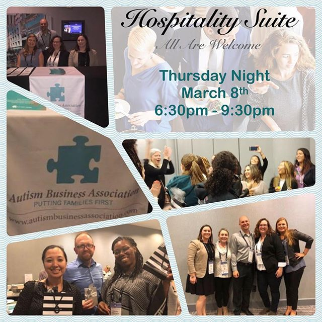 Thank you all for joining us for food, friends, and fun at the first ever - Autism Business Association - Hospitality Suite!