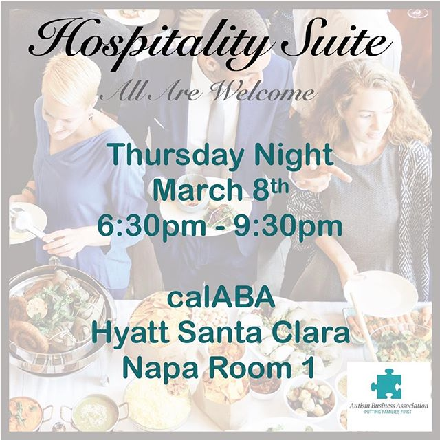 Please invite your colleagues to join us tonight at this event, hosted by the Autism Business Association, to kick off calABA with friends, food and fun...