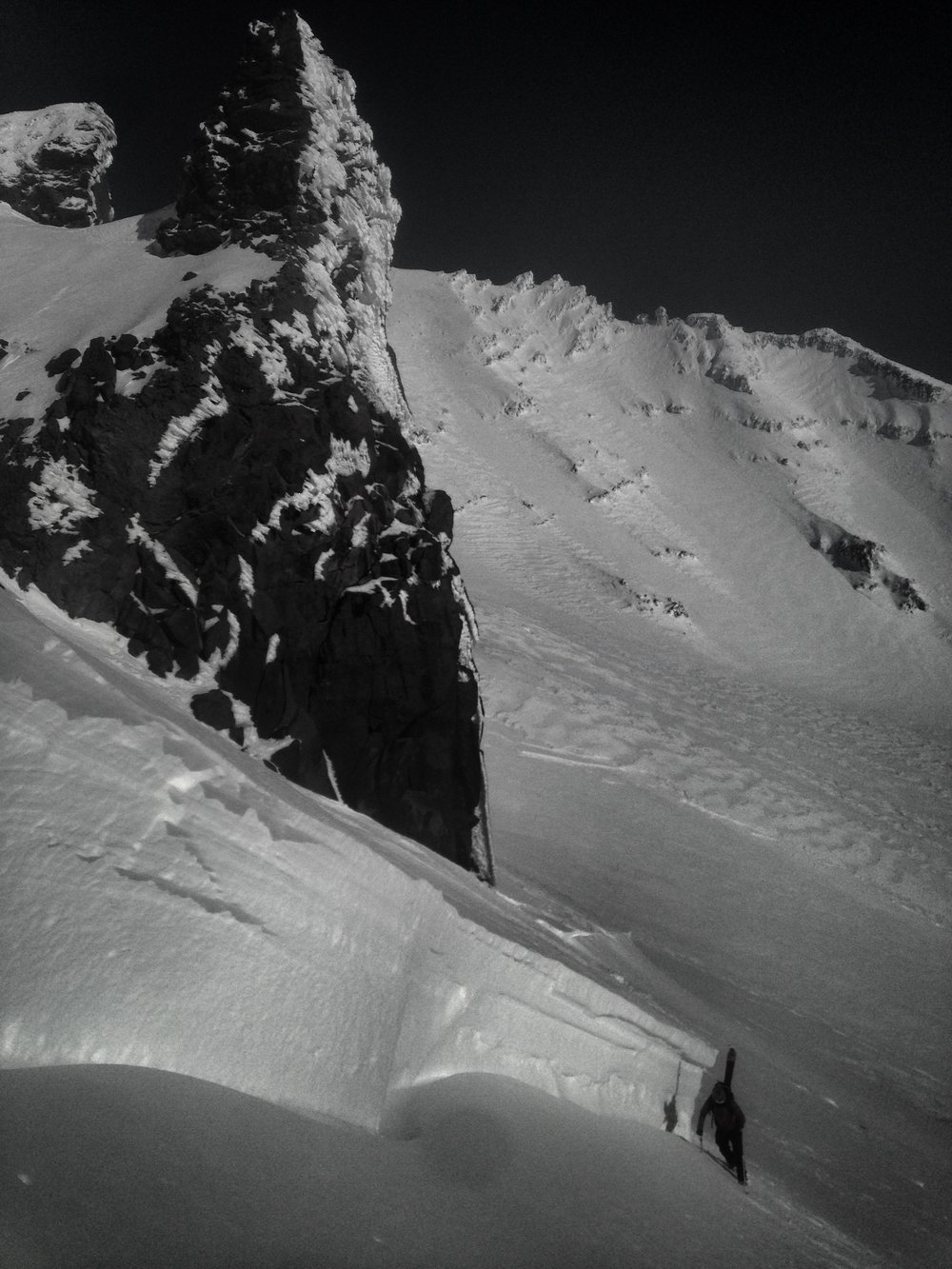 Large Natural Avalanche Cycle on Cassaval Ridge, Mt. Shasta, CA.  Photo Courtesy of Nick Meyers