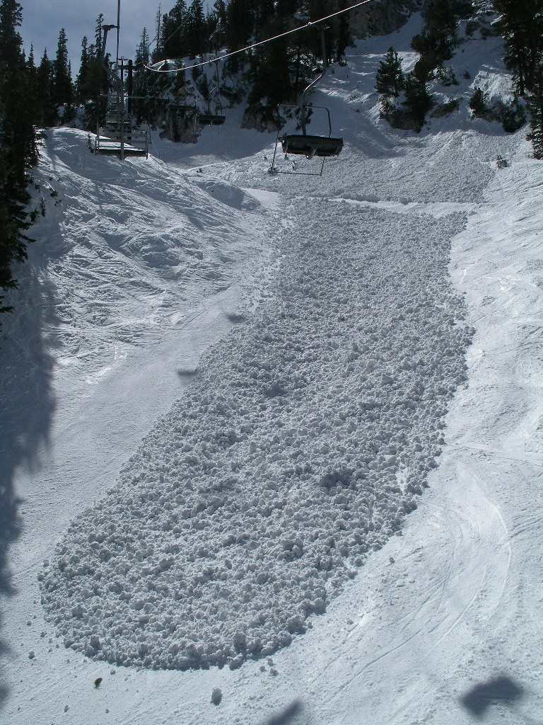 Large wet avalanche debris.  Solitude Mountain Resort, UT.  Photo: Jonathon Spitzer