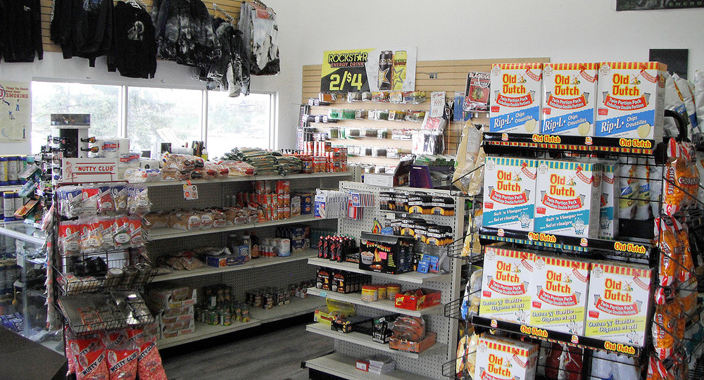 Our well stocked convenience store has all the supplies you'll need whether you're going out fishing and need some bait or just some snacks for a sight seeing cruise on the lake.