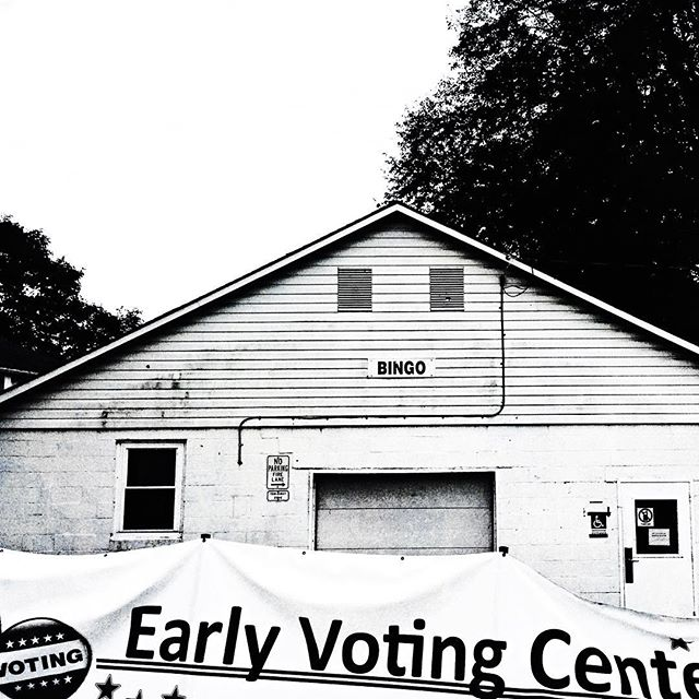 """""""Always vote for principle, though you may vote alone, and you may cherish the sweetest reflection that your vote is never lost."""" ~President John Quincy Adams  Loved going to early voting today at the bingo hall at the county fairgrounds. So thankful for the privilege to vote & also grateful for all the volunteers.  #acolorstory  #nothingisordinary  #livethelittlethings  #happierpodcast  #happier2018"""