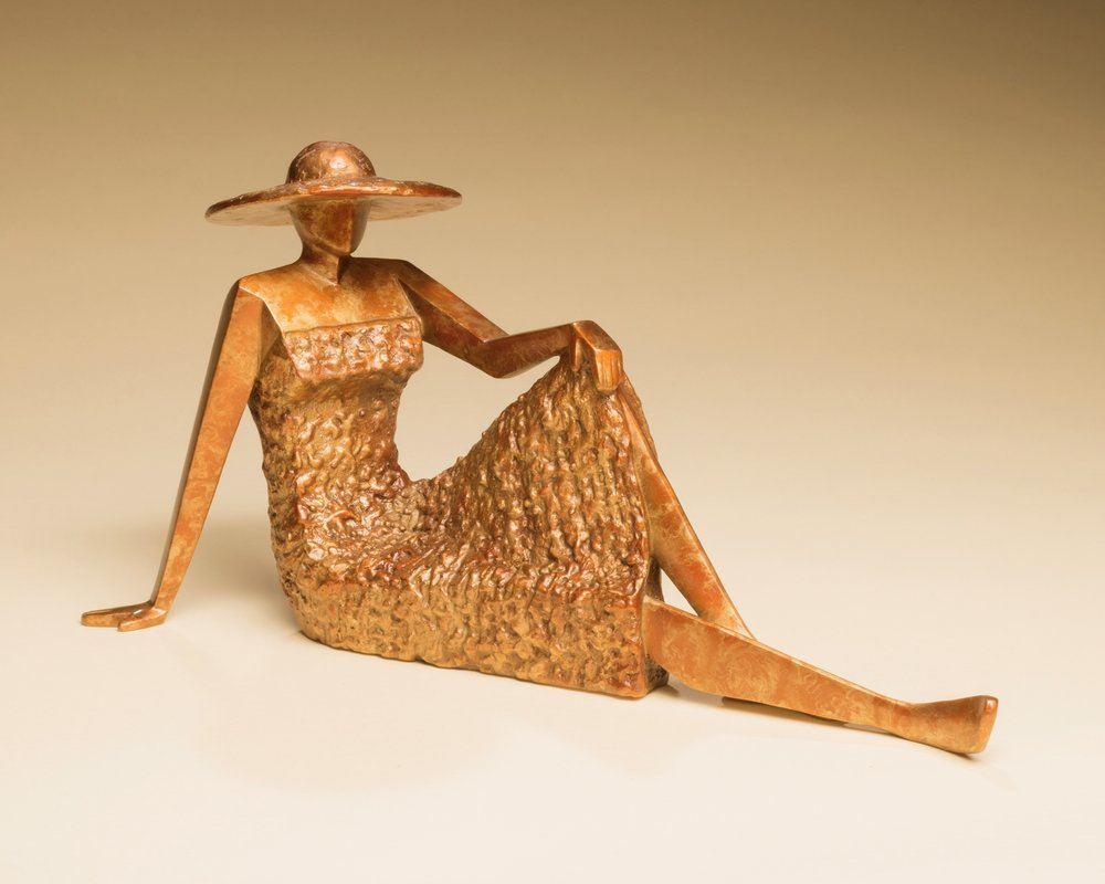 "Summer's Magic   6"" H x 4"" W x 12"" D Bronze edition of 25"